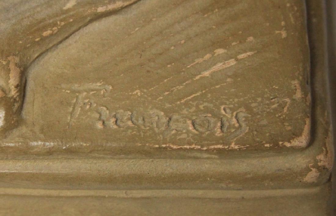 TERRA COTTA FIGURE, ARTIST SIGNED, 1850'S - 4