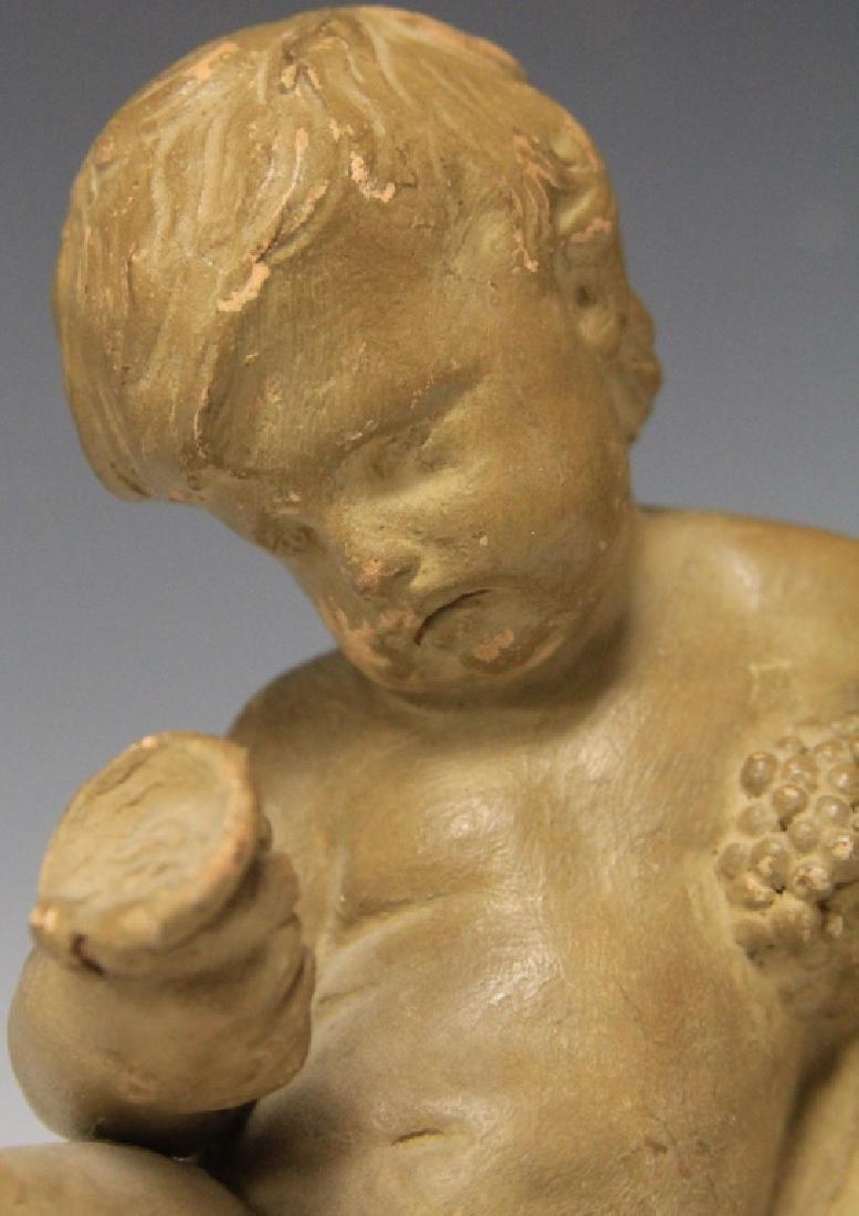 TERRA COTTA FIGURE, ARTIST SIGNED, 1850'S - 5
