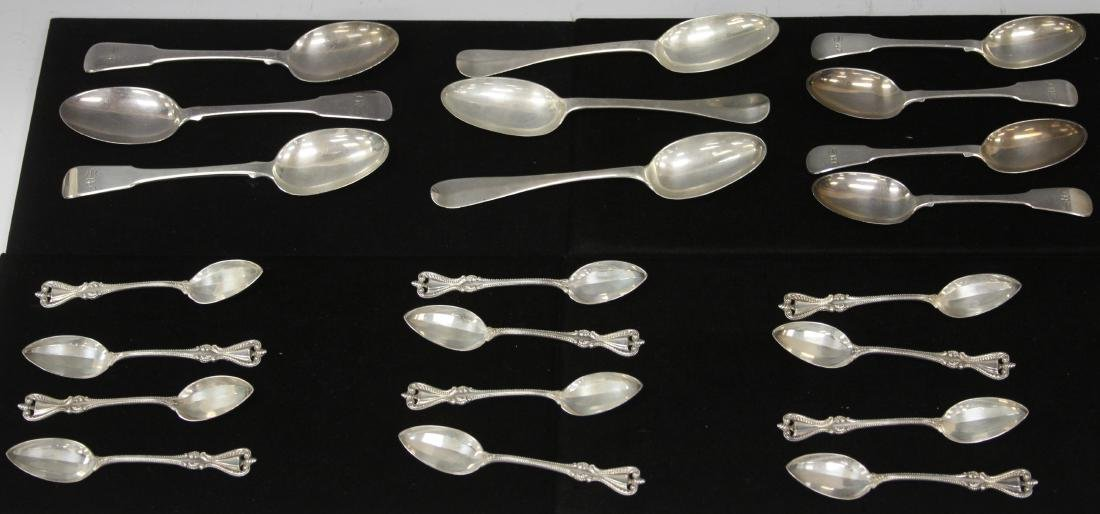 LOT (22)  STERLING & COIN SILVER SPOONS