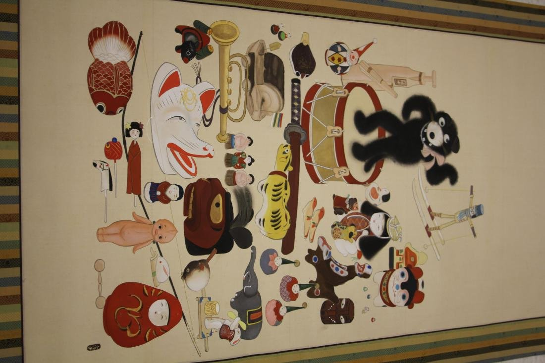 VINTAGE JAPANESE PAINTING, CHILDREN THEME - 2