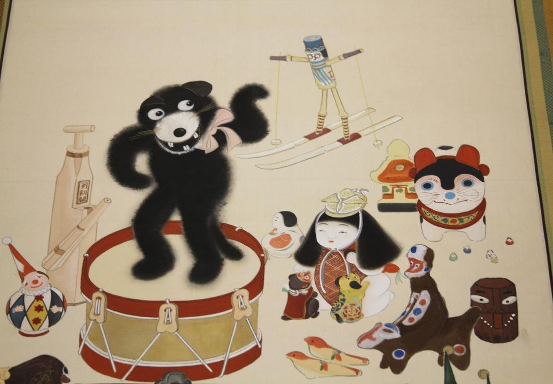 VINTAGE JAPANESE PAINTING, CHILDREN THEME - 3