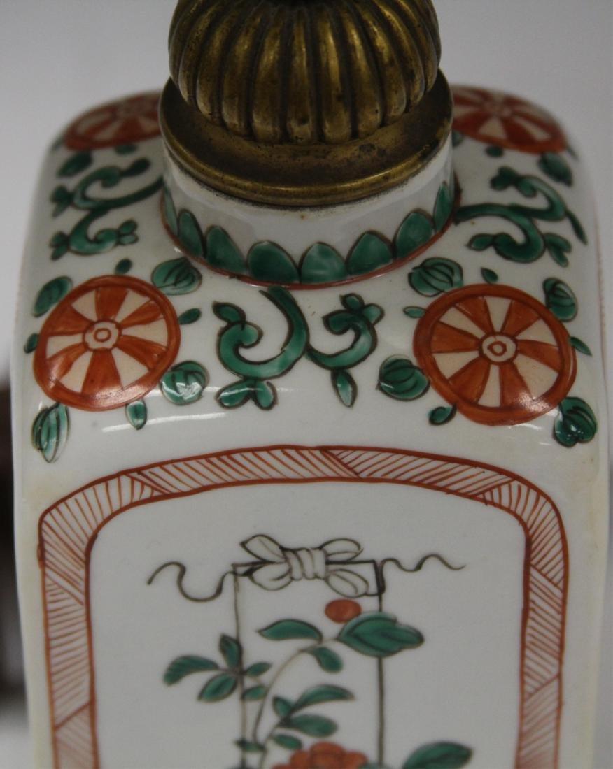 VINTAGE JAPANESE PORCELAIN LAMP - 4