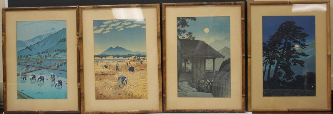 LOT OF (4) VINTAGE JAPANESE WOODBLOCK PRINTS