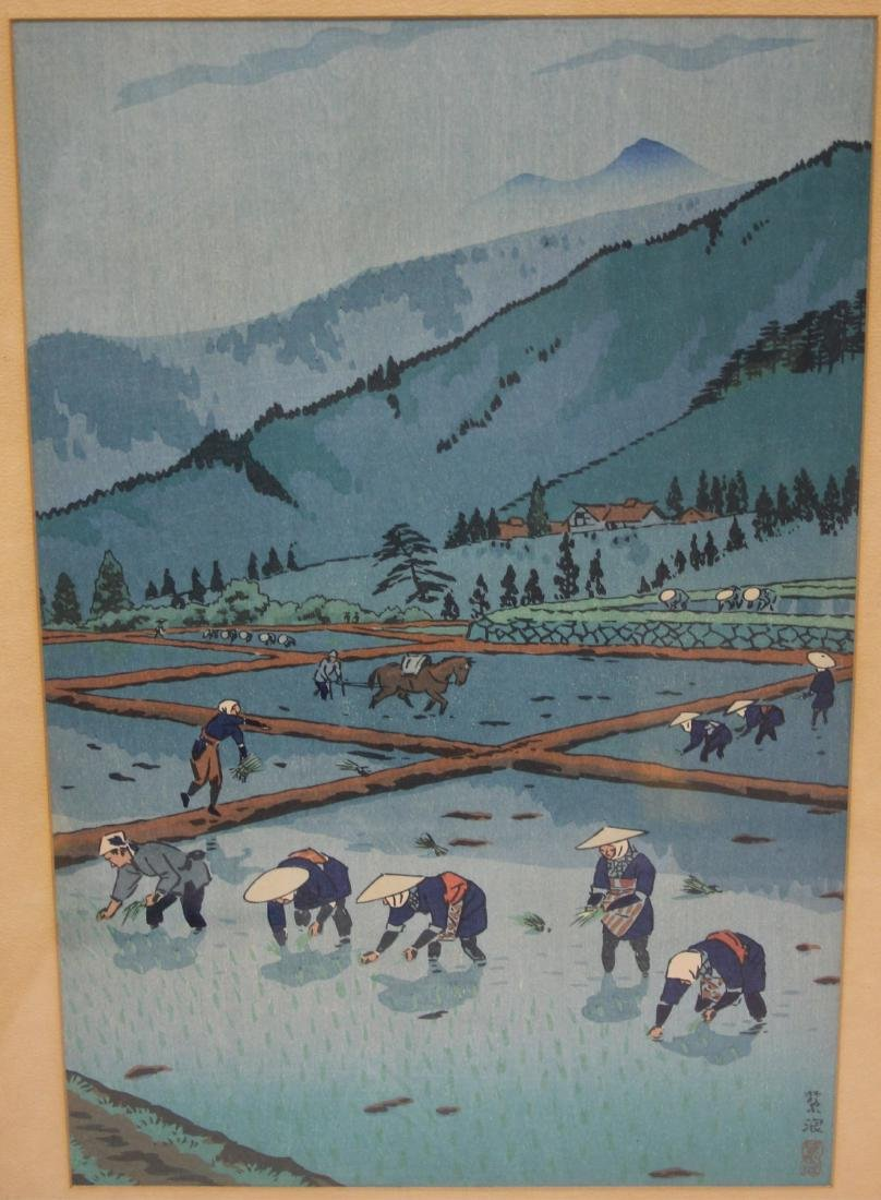 LOT OF (4) VINTAGE JAPANESE WOODBLOCK PRINTS - 2