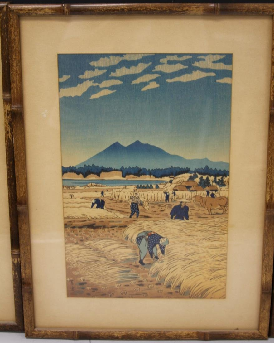 LOT OF (4) VINTAGE JAPANESE WOODBLOCK PRINTS - 3
