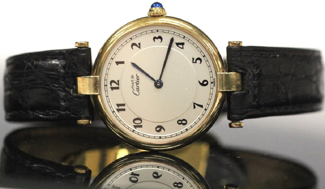 CARTIER VERMEIL QUARTZ SWISS WRISTWATCH