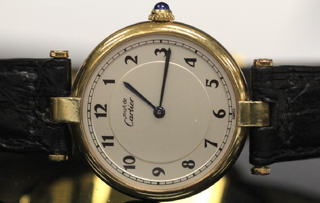 CARTIER VERMEIL QUARTZ SWISS WRISTWATCH - 2