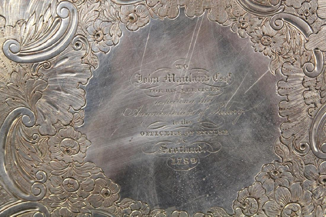 GEORGIAN SILVER PLATED FOOTED PRESENTATION TRAY - 2