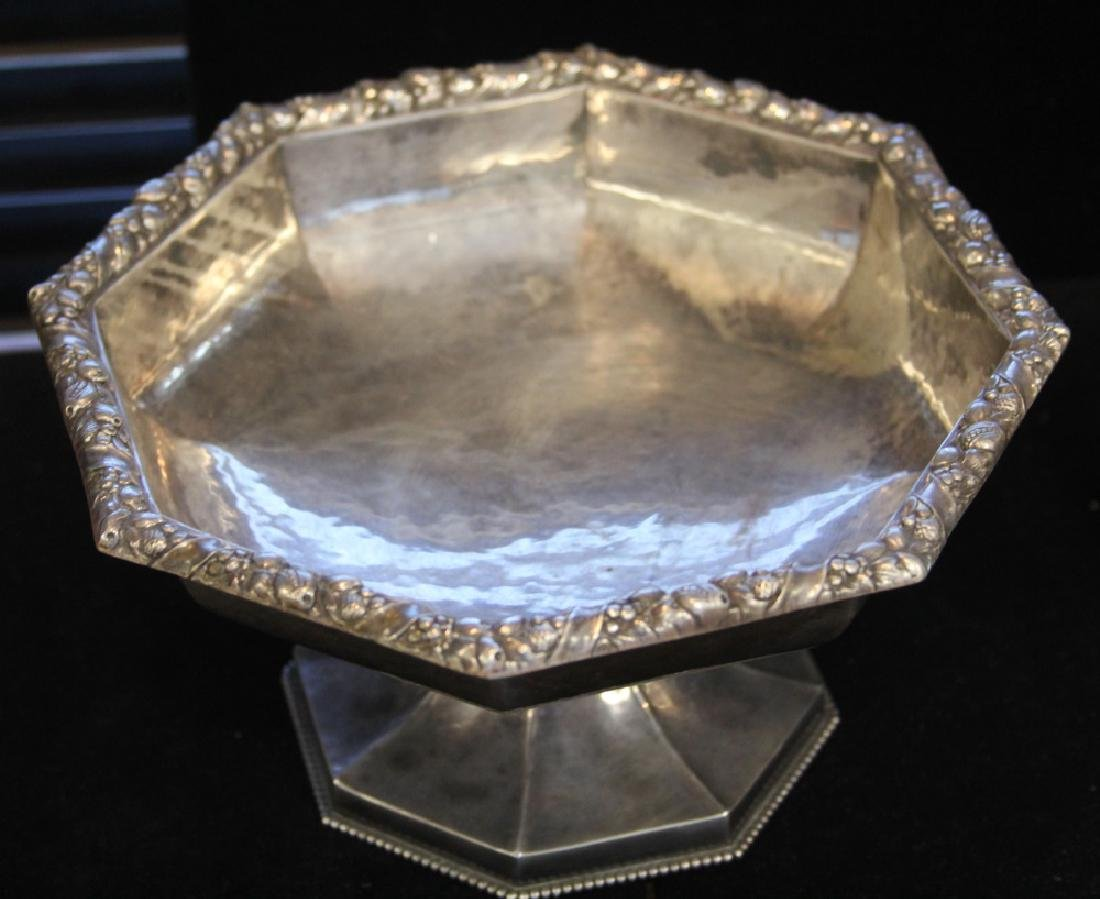 LOT OF (2) .800 SILVER: TEAPOT & FOOTED BOWL