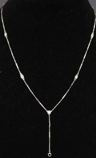 LADYS DIAMOND 14KT GOLD NECKLACE 55 GRAMS