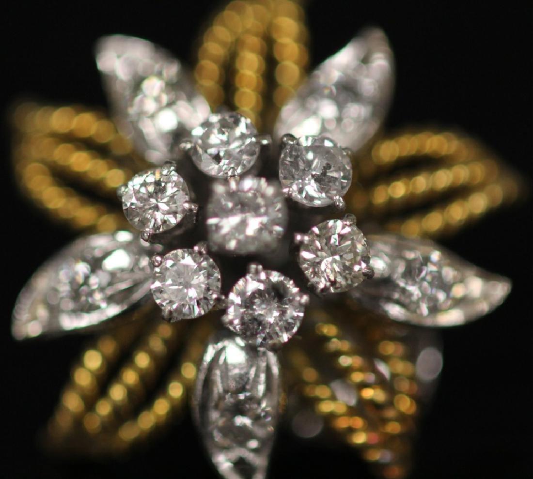 LADY'S DIAMOND 14KT GOLD EARRINGS - 2