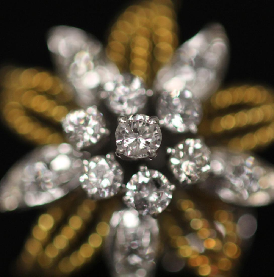 LADY'S DIAMOND 14KT GOLD EARRINGS - 3
