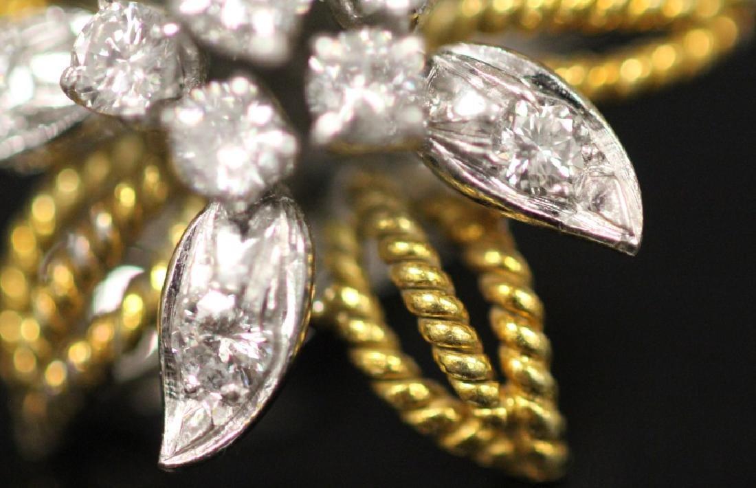 LADY'S DIAMOND 14KT GOLD EARRINGS - 4
