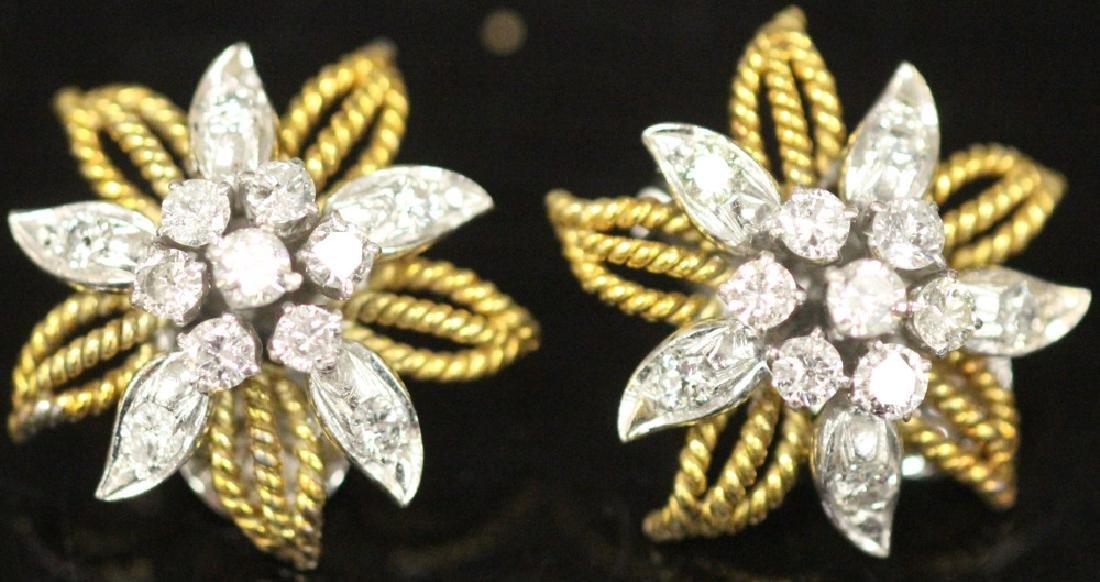 LADY'S DIAMOND 14KT GOLD EARRINGS - 5