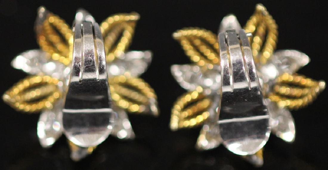 LADY'S DIAMOND 14KT GOLD EARRINGS - 6