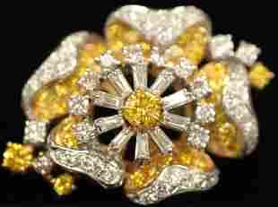 DIAMOND 18KT GOLD EARRING/NECKLACE ENHANCER