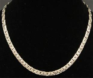 18KT WHITE GOLD NECKLACE, 111.9 GRAMS