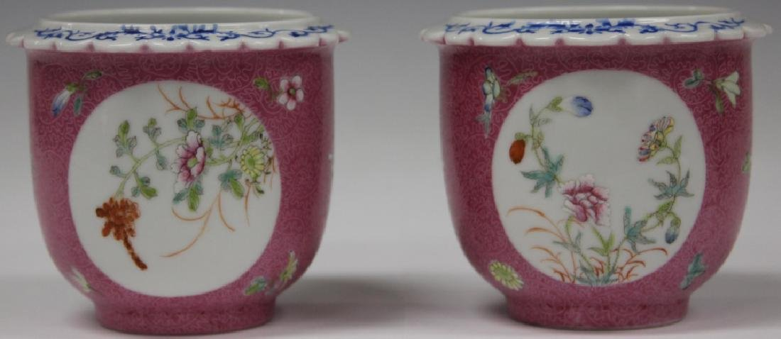 PAIR OF CHINESE REPUBLIC PERIOD FLOWER POTS