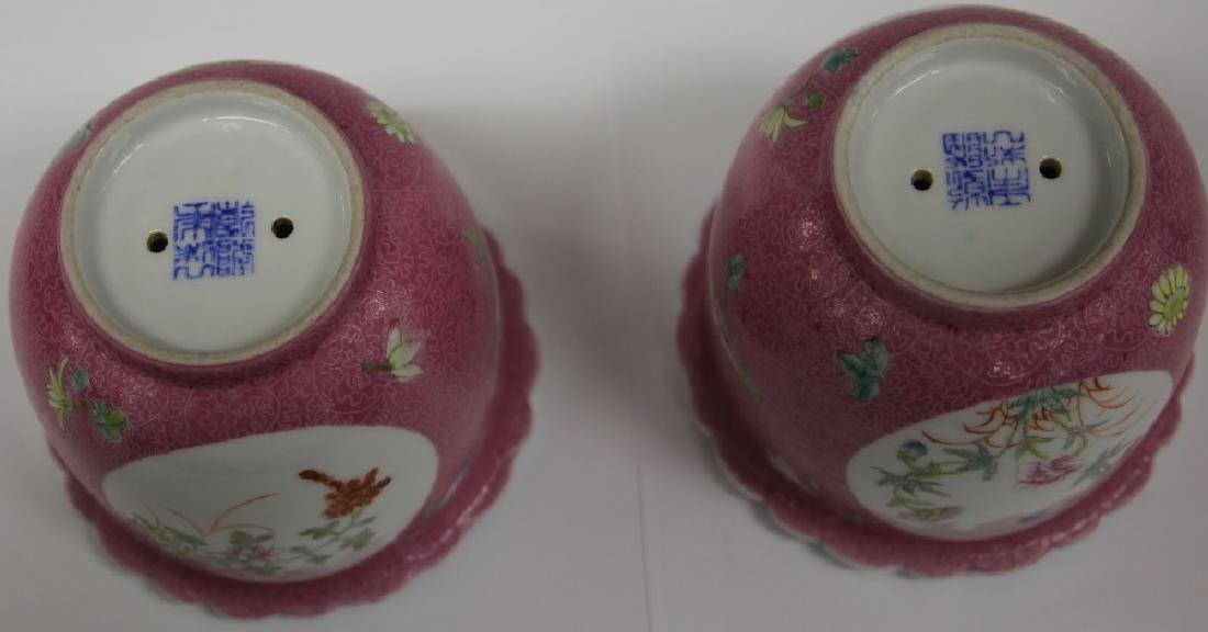 PAIR OF CHINESE REPUBLIC PERIOD FLOWER POTS - 4