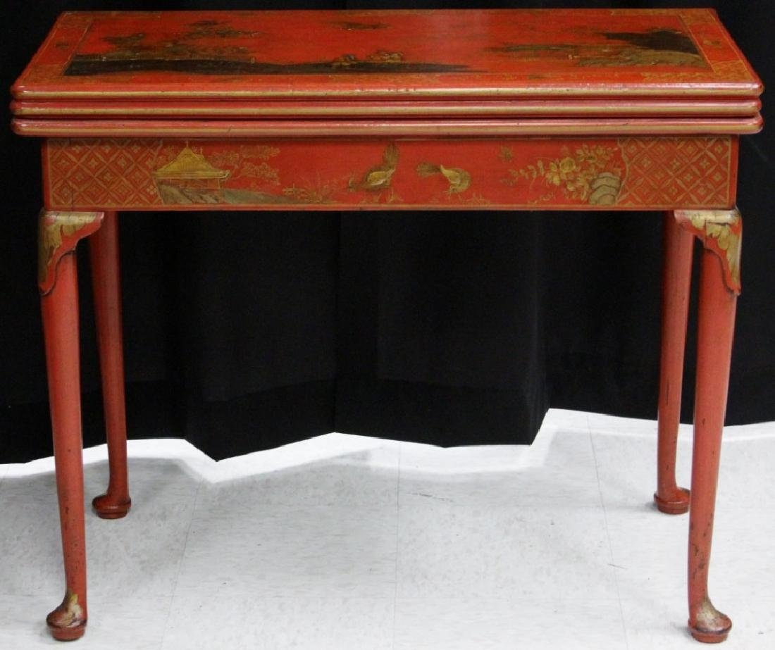 18TH CENTURY ENGLISH CHINOISERIE PAINTED TABLE