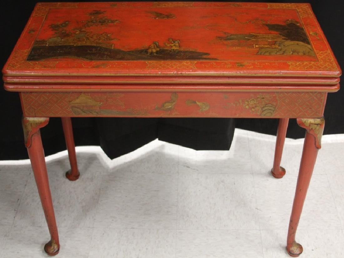 18TH CENTURY ENGLISH CHINOISERIE PAINTED TABLE - 2