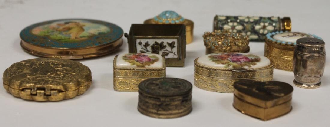 LOT OF (12) VINTAGE COMPACTS & TRINKET/PILL BOXES - 2