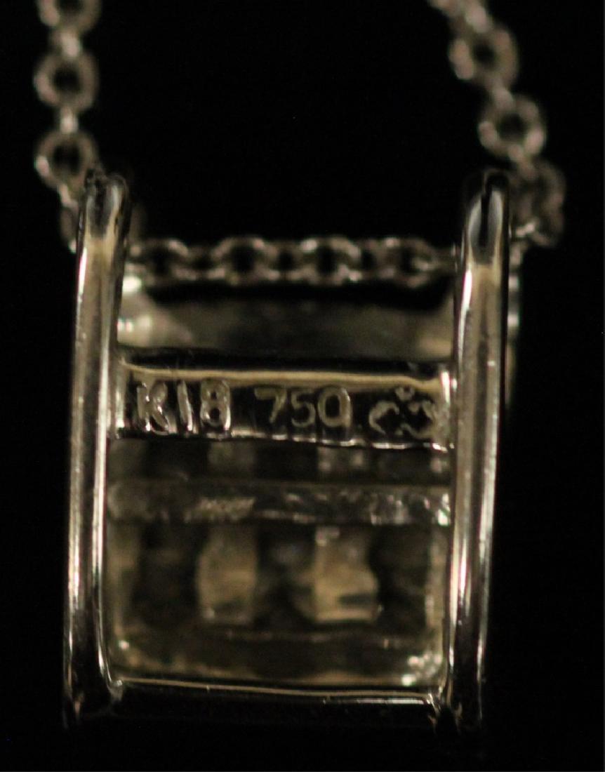 DIAMOND 18KT WHITE GOLD PENDANT & 14KT CHAIN - 3