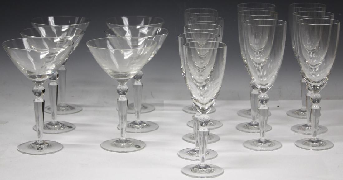 SET OF (17) STEUBEN GLASS STEMWARE