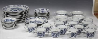 SET OF 48 BLUE DANUBE PORCELAIN CHINA