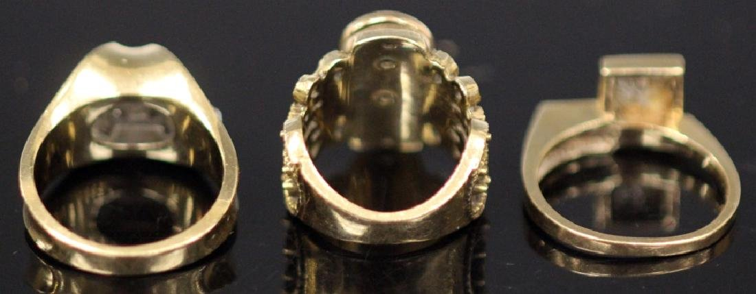 LOT OF (3) 14KT GOLD RINGS INCL. DIAMOND, 18.9 G - 2