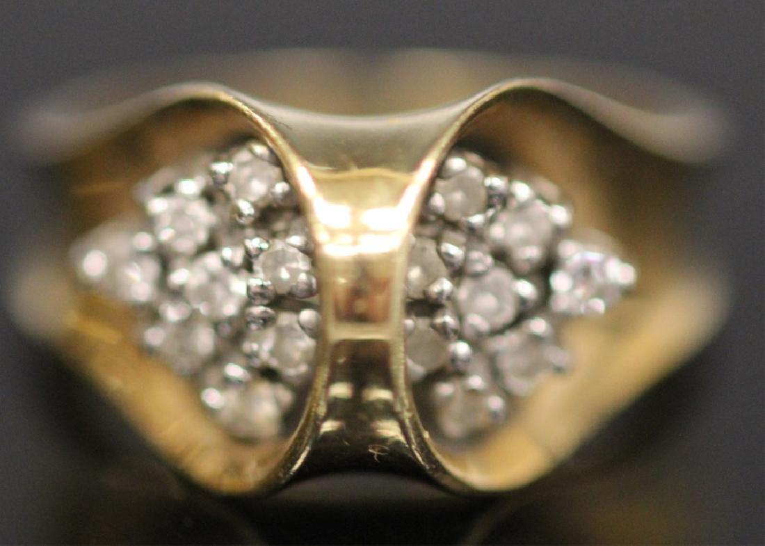 LOT OF (3) 14KT GOLD RINGS INCL. DIAMOND, 18.9 G - 3