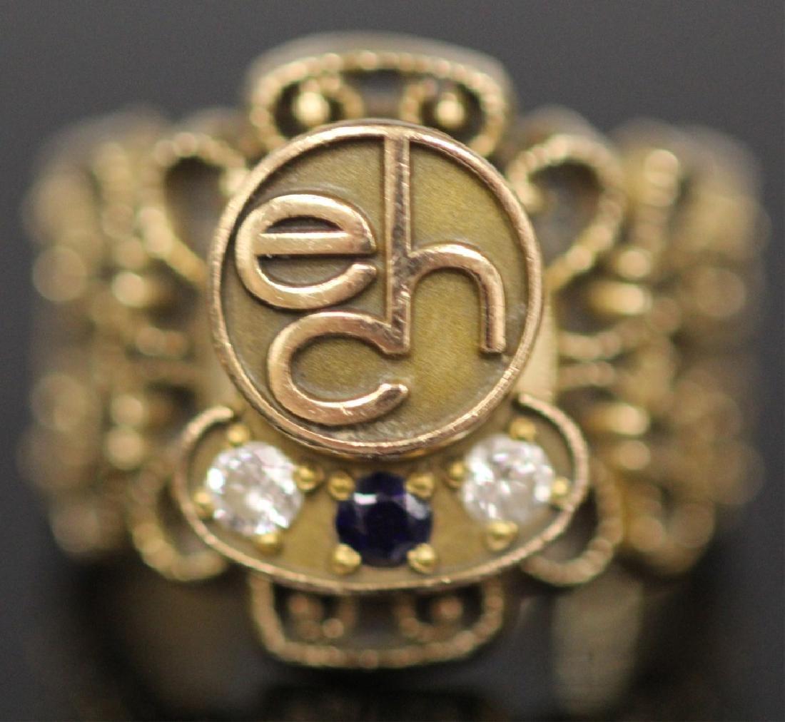 LOT OF (3) 14KT GOLD RINGS INCL. DIAMOND, 18.9 G - 4