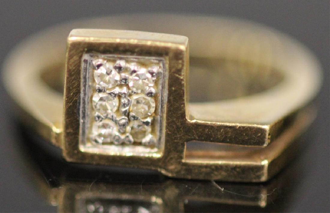 LOT OF (3) 14KT GOLD RINGS INCL. DIAMOND, 18.9 G - 5