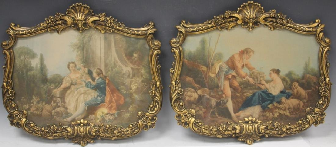PAIR OF VINTAGE FRENCH FRAMED PRINTS, 1900'S