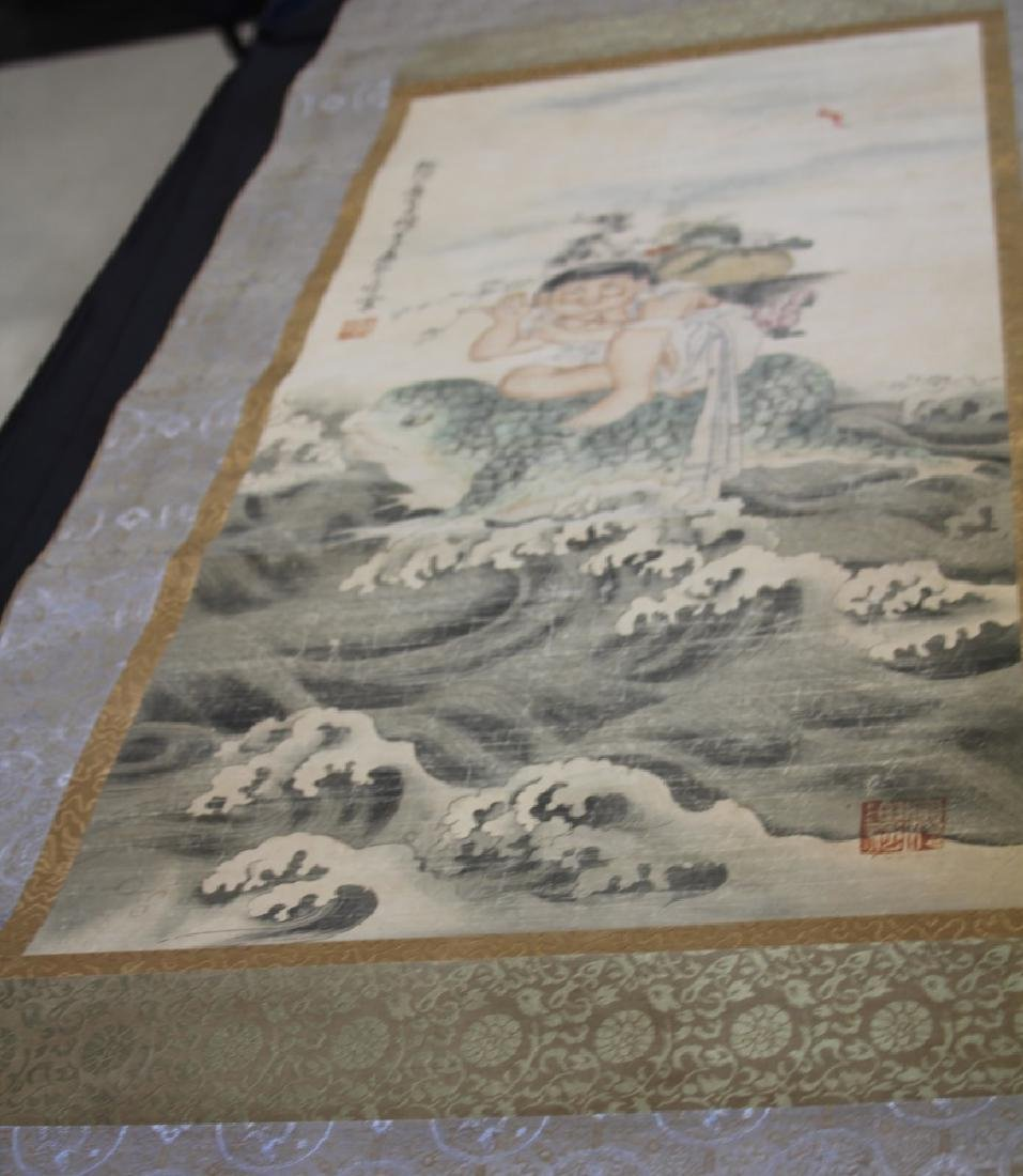 CHINESE SCROLL PAINTING OF BOY - 2