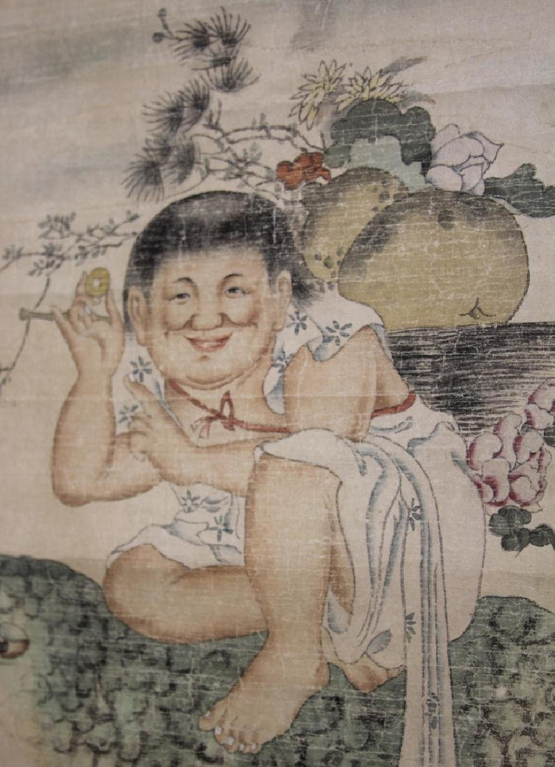 CHINESE SCROLL PAINTING OF BOY - 3