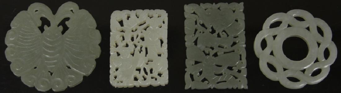 LOT OF (4) CHINESE CARVED JADE PIECES