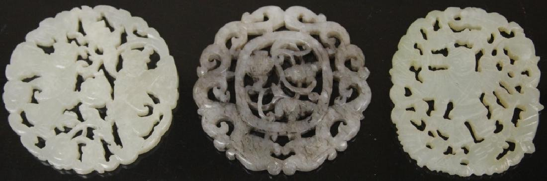 LOT OF (3) CHINESE CARVED JADE PIECES