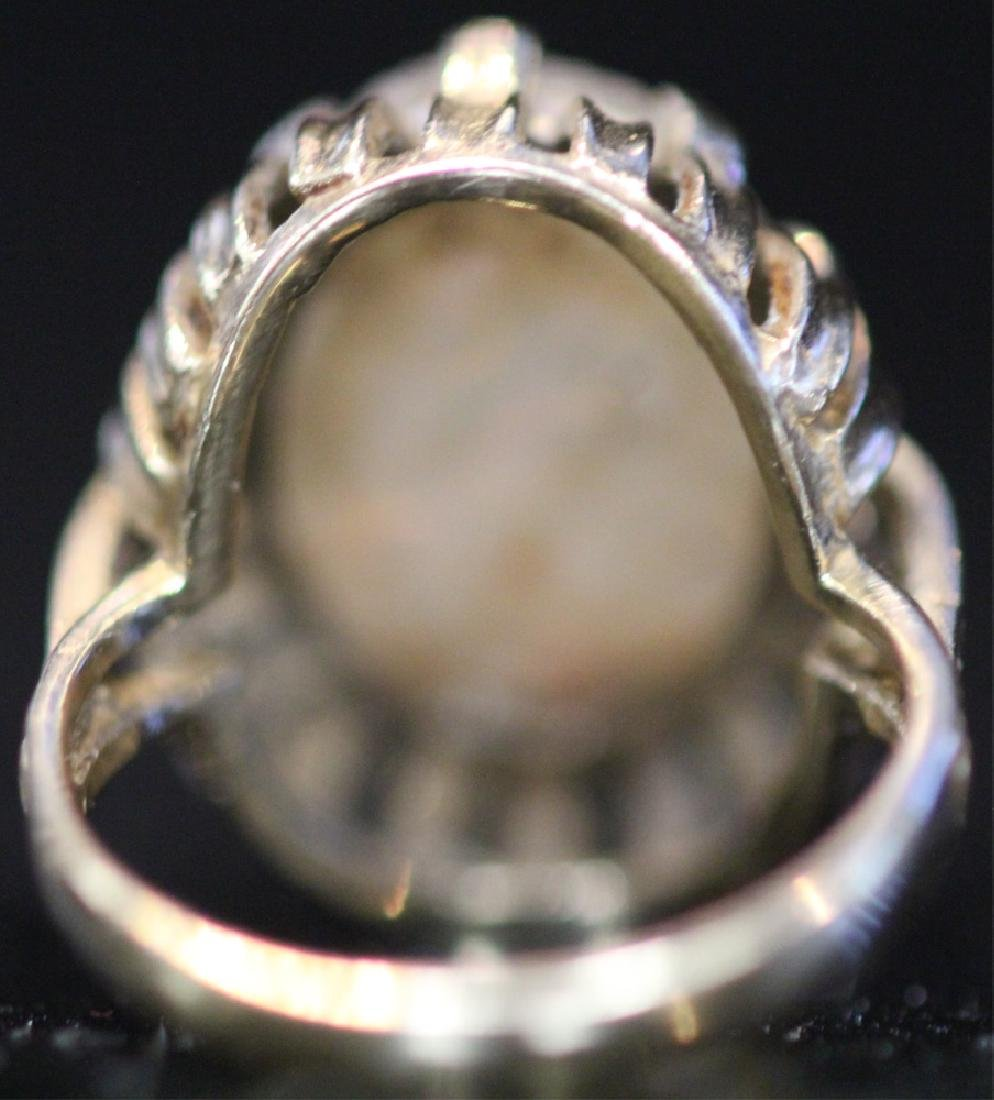 14KT GOLD OPAL DOUBLET RING - 4