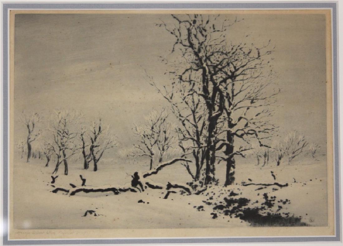 GEORGE ELBERT BURR (1859-1939): (2) ETCHINGS - 2
