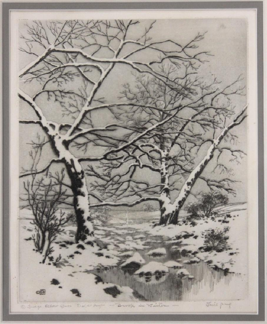 GEORGE ELBERT BURR (1859-1939): (2) ETCHINGS - 3