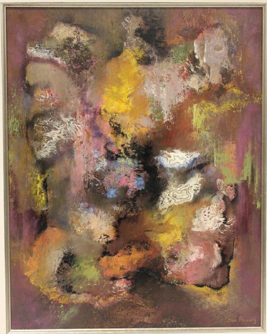 JAN HOOWIJ (1907-1987), OIL ON BOARD, FRAMED - 2