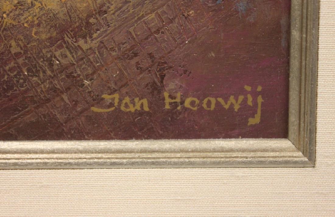 JAN HOOWIJ (1907-1987), OIL ON BOARD, FRAMED - 5