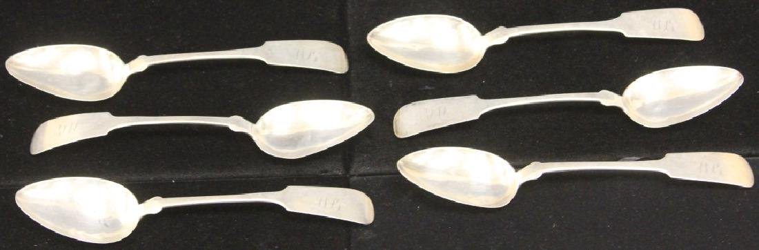 LOT OF (6) 19TH C. COIN SILVER SPOONS - 2