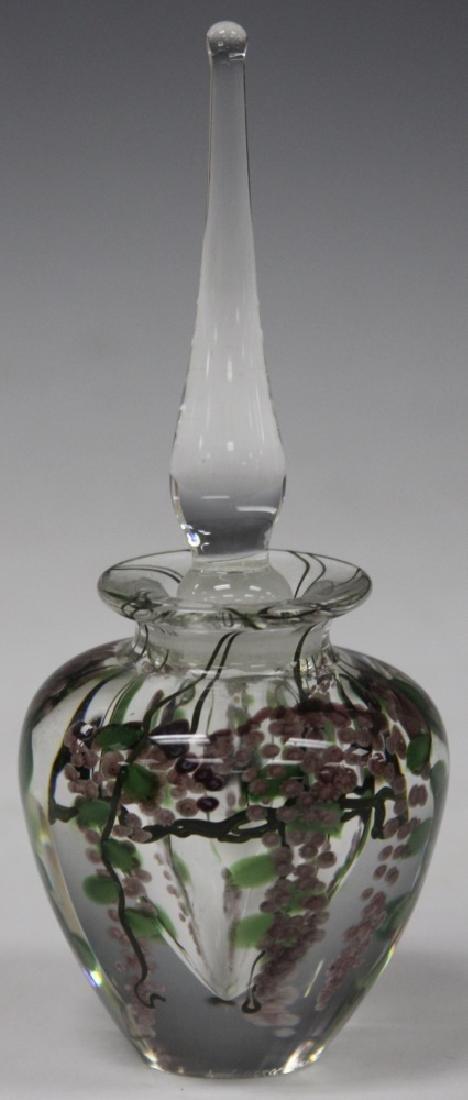 "LUNDBERG ART GLASS PERFUME BOTTLE, 7"" H"