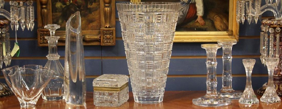 LOT OF (9) ART GLASS INCL. BACCARAT & STUEBEN