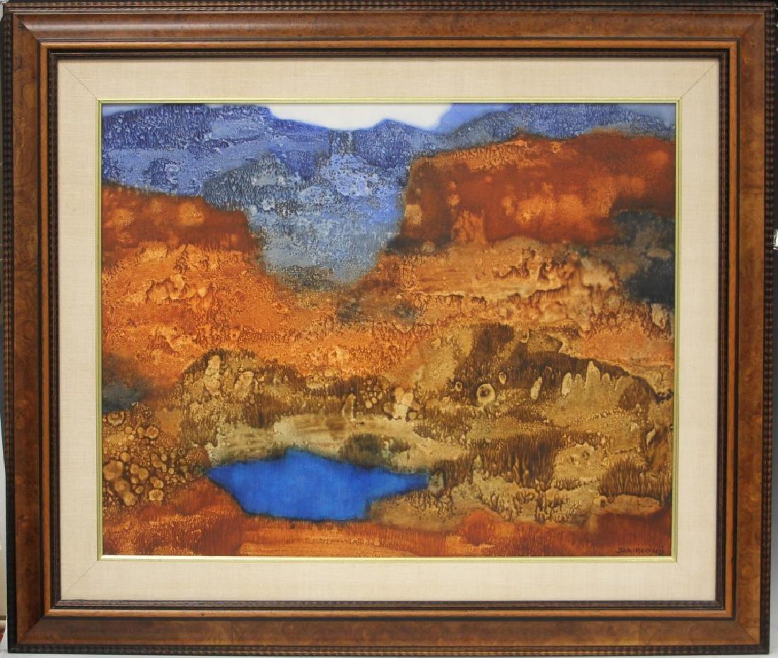 JAN HOOWIJ (1907-1987), ABSTRACT OIL ON BOARD
