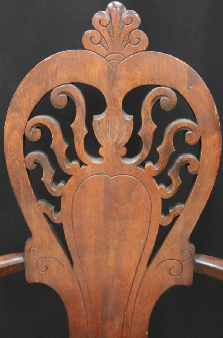 VICTORIAN ARM CHAIR WITH UPHOLSTERY - 2