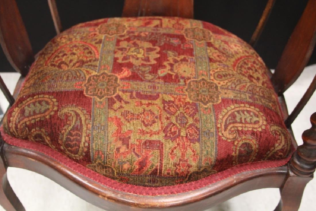 VICTORIAN ARM CHAIR WITH UPHOLSTERY - 3