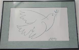 AFTER PABLO PICASSO LITHOGRAPH FRAMED